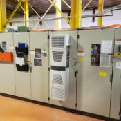 BACKSTANDS DRIVE CABINET, AND MAIN ELECTRICAL CABINET,WITH PLC AND DRIVES (B2 BACKSTAND)