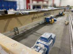 Hoist System. Demag. S/N: 02053. 5 Tons Dual trolley with pendulant. 28' wide x 84' long x 20'