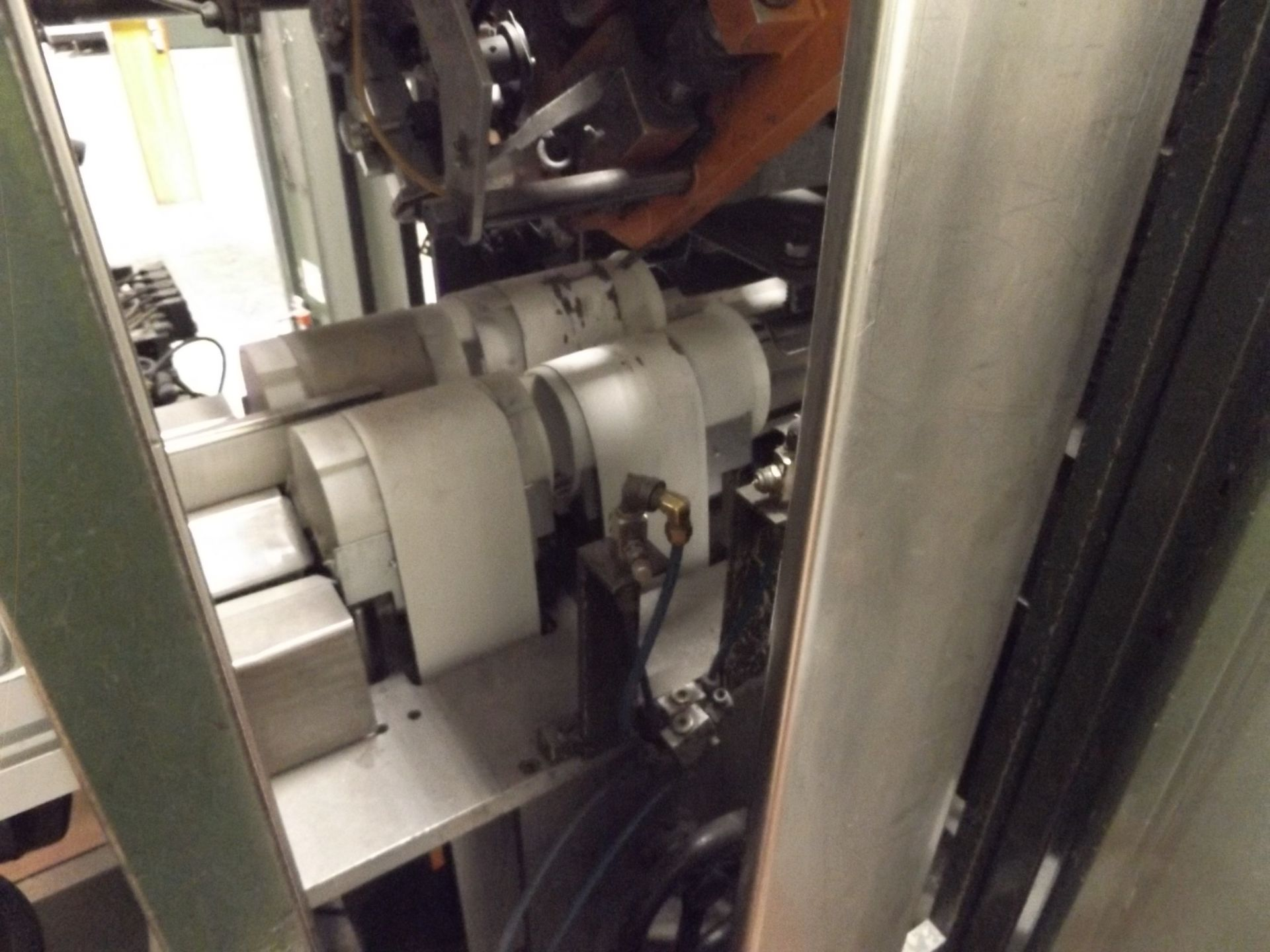 "Lot 7 - 1996 PERINI 175E Log Saw, s/n N/A, Servos, Saw Cut Length / Slitter Position Width: 11"", 100 Cuts/"