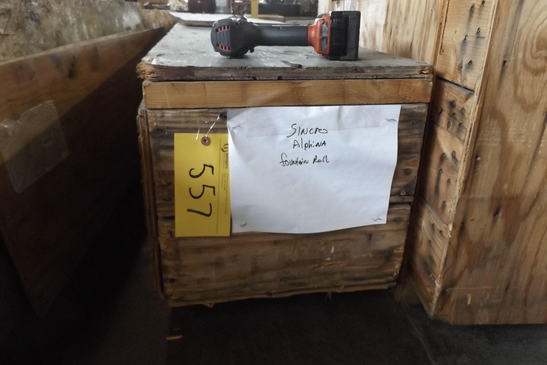 Lot 557 - SPRARE LAMINATOR GLUE FOUNTAIN ROLL ( FITS W1/W2 ) (MAINT SHOP)
