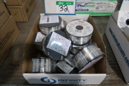LOT OF LINCOLN SPOOLS OF WELDING WIRE SUPER GLAZE 4043