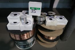 LOT OF ASST'D SPOOLS OF WELDING WIRE