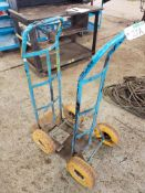 LOT OF (2) HAND TRUCKS