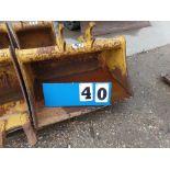 BRANDT EXCAVATOR BUCKET MOD. EX0025-BCUS34, MACHINE - JD 25G/35G