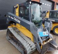 2018 JOHN DEERE MOD. 331G SKID STEER, HY Q/C, AUX HYD, A/C CAB, 1,132 HRS, S/N 1T0331GKCJE3250 -