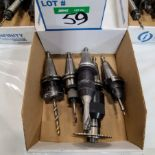 LOT OF CAT 40 TOOL HOLDERS W/TOOLING