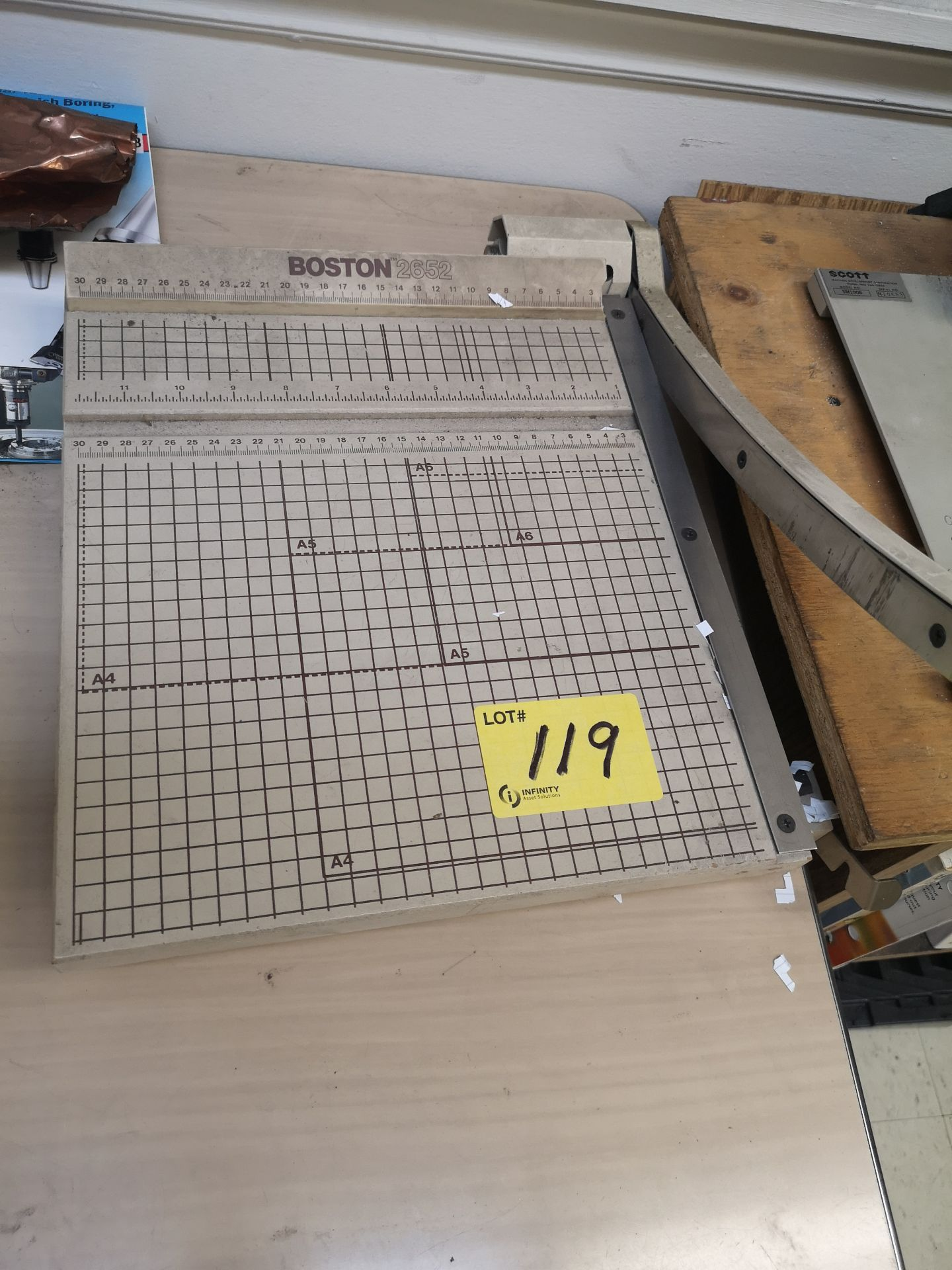 Lot 119 - LOT BOSTON PAPER CUTTER AND SCOTT TRACER