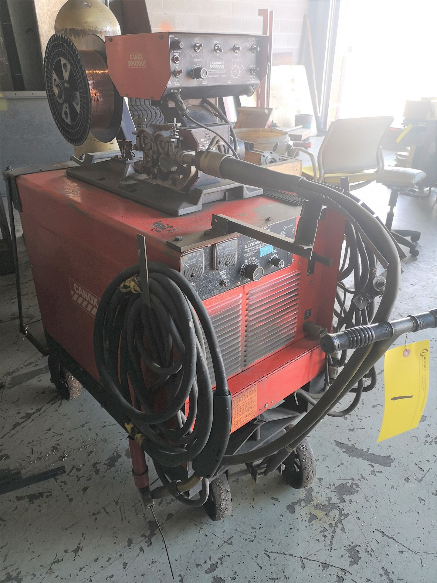 Lot 1 - CANOX ULTRAWELD 400 ARC WELDER W/ WIRE FEED