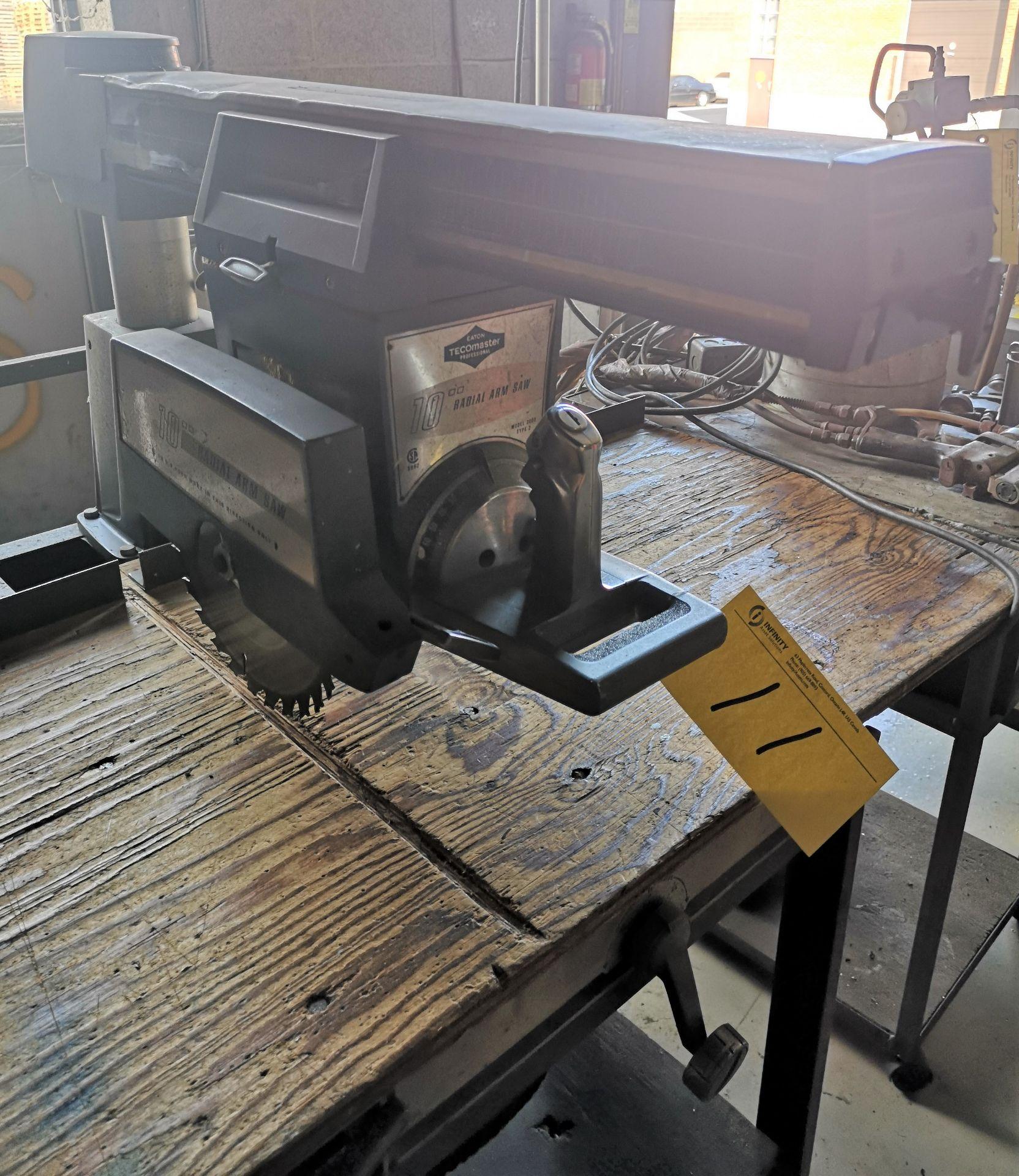 """Lot 11 - EATON TECHOMASTER 10"""" RADIAL ARM SAW"""