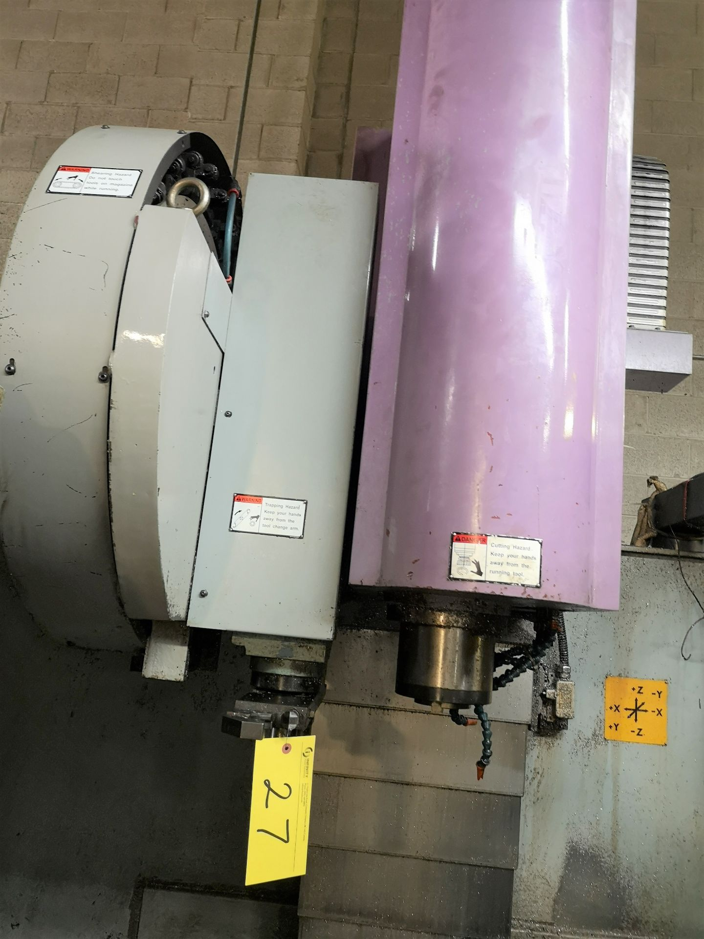 "Lot 27 - SINTEC SMC-V500M CNC Vertical Machining Center, Mitsubishi CNC Control, 20"" x 40"" Table, (24) ATC,"