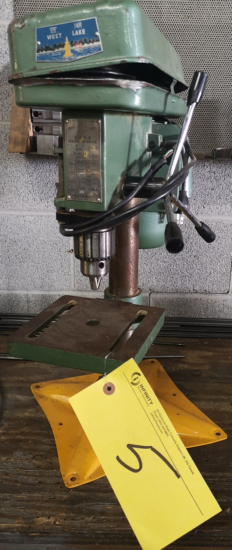 Lot 5 - WESTLAKE BENCH DRILL PRESS