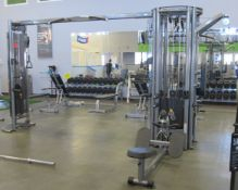 MATRIX G3-MS50-5 Stack Multi Station Cable Workout, incl: Lat Pulldown, Tricep Pushdown, Seated Row,