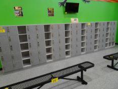 """(68) Keyless Storage Locking Door Cabinets, (32) Open storage cupboards 10""""W x 11""""H x 16"""" D"""