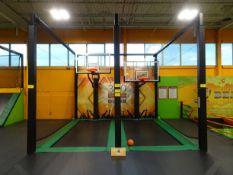 360 Slam Dunk two basket ball hoops (2) 7' x 16' long mats (SUBJECT TO BULK BID LOT 2)