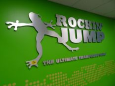 Rockin Jump metal wall decal