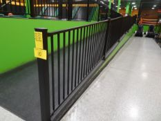 """Safety Railing System consisting of: (10) 46"""" H metal posts, (6) 40"""" x 90"""" L section railing, (1)"""