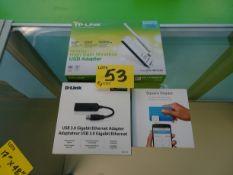 TP-Link USB adapter, D-Link adapter, Square Reader