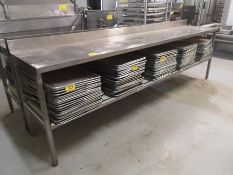 """10' X 24"""" X 36"""" STAINLESS STEEL PREP TABLE"""