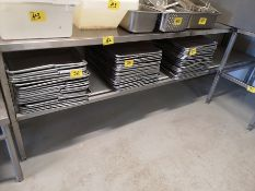 """10"""" X 24"""" X 36"""" STAINLESS STEEL PREP TABLE"""