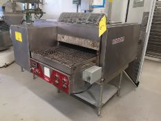 """BLODGETT MT21-E DOUBLE STACK ELECTRIC CONVEYOR OVEN, 18"""" BELT, 28"""" TUNNEL, 120/240V, S/N"""