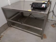 """60"""" X 46"""" X 36"""" STAINLESS STEEL TABLE"""