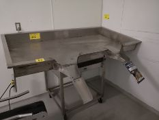 """70"""" X 32"""" STAINLESS STEEL BAG FILLING TABLE"""