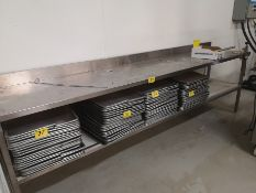 """10' X 24"""" X 36"""" STAINLESS STEEL PREP TABLE W/ CAN OPENER"""