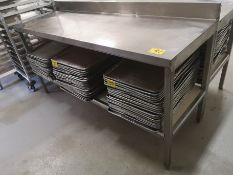"""72"""" X 24"""" X 36"""" STAINLESS STEEL PREP TABLE"""
