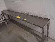 LOT (2) ASST. STAINLESS STEEL TABLES