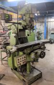 "FIRST LC-18VSC, VERTICAL MILLING MACHINE, FAGOR 2-AXIS DRO, 9"" X 49"" TABLE, SPEEDS UP TO 4,500"