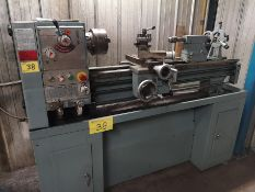 "KING KC-1440 LATHE, 14"" X 40"", 6"" 3 JAW CHUCK, 1.5"" BORE, TAILSTOCK, STEADY REST, SINGLE PHASE, SN:"