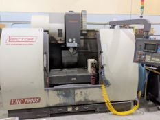 """2002 PINNACLE VECTOR VMC-1000S CNC VERTICAL MACHINING CENTER, FANUC SERIES O-MD CNC CONTROL, 47"""" X"""