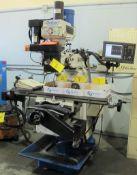 "DARBERT MICROCUT CNC VERTICAL MILLING MACHINE, 3HP, ACURITE 3-AXIS DRO, R8, ALIGN POWER DRAWBAR, 10"""