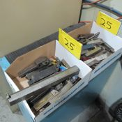 LOT OF (2) BOXES CARBIDE CUTTER BARS, KNURLING TOOL, CUTTERS, ETC.
