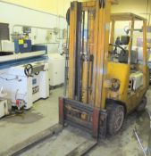"TOYOTA 42-3FGC20 PROPANE FORKLIFT, 3,750LB CAP., 185"" MAX LIFT, 3-STAGE MAST, SIDE SHIFT, S/N"