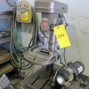 """BENCHTOP ITC 16-SPEED DRILL PRESS, MODEL RVM-80AS-16, S/N 56027 W/ 12"""" TABLE AND VISE"""