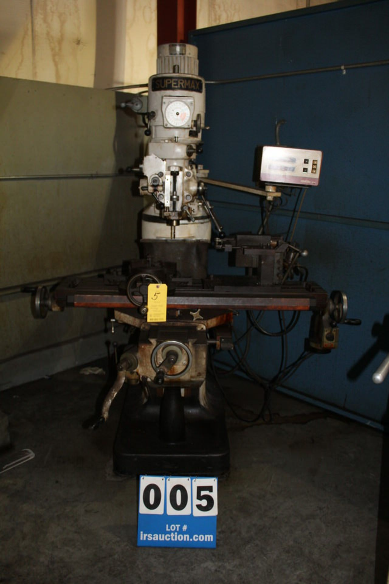 "Lot 5 - SUPERMAX YCM1 12 AVA VERTICAL MILLING MACHINE, 9"" X 40"" TABLE, POWERFEED, PATHFINDER 5OO DRO"
