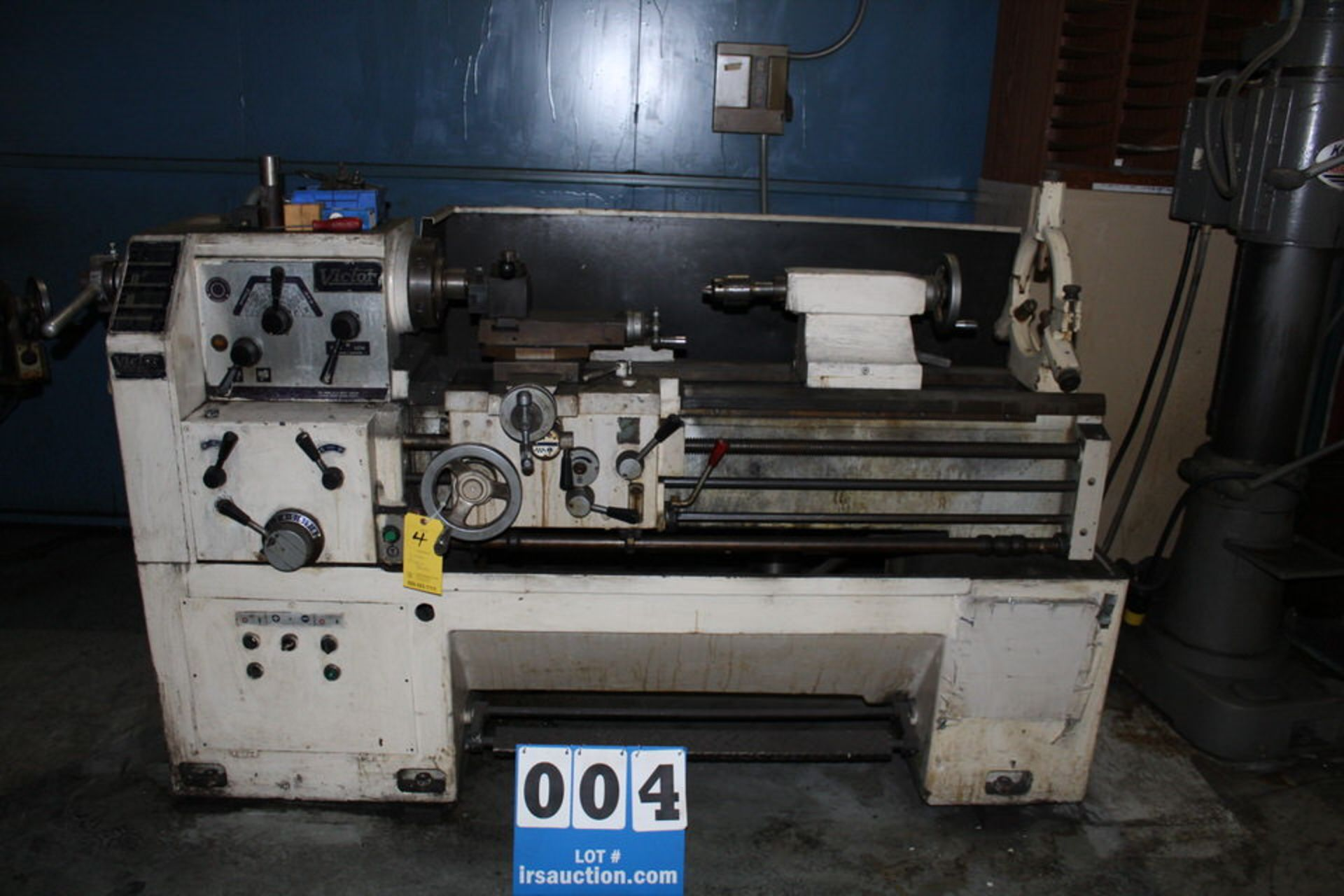 """Lot 4 - VICTOR 1640 ENGINE LATHE, 1 1/ 2"""" HOLE, 54"""" BED, 16"""" SWING, 40"""" CENTERS, 7"""" CHUCK"""