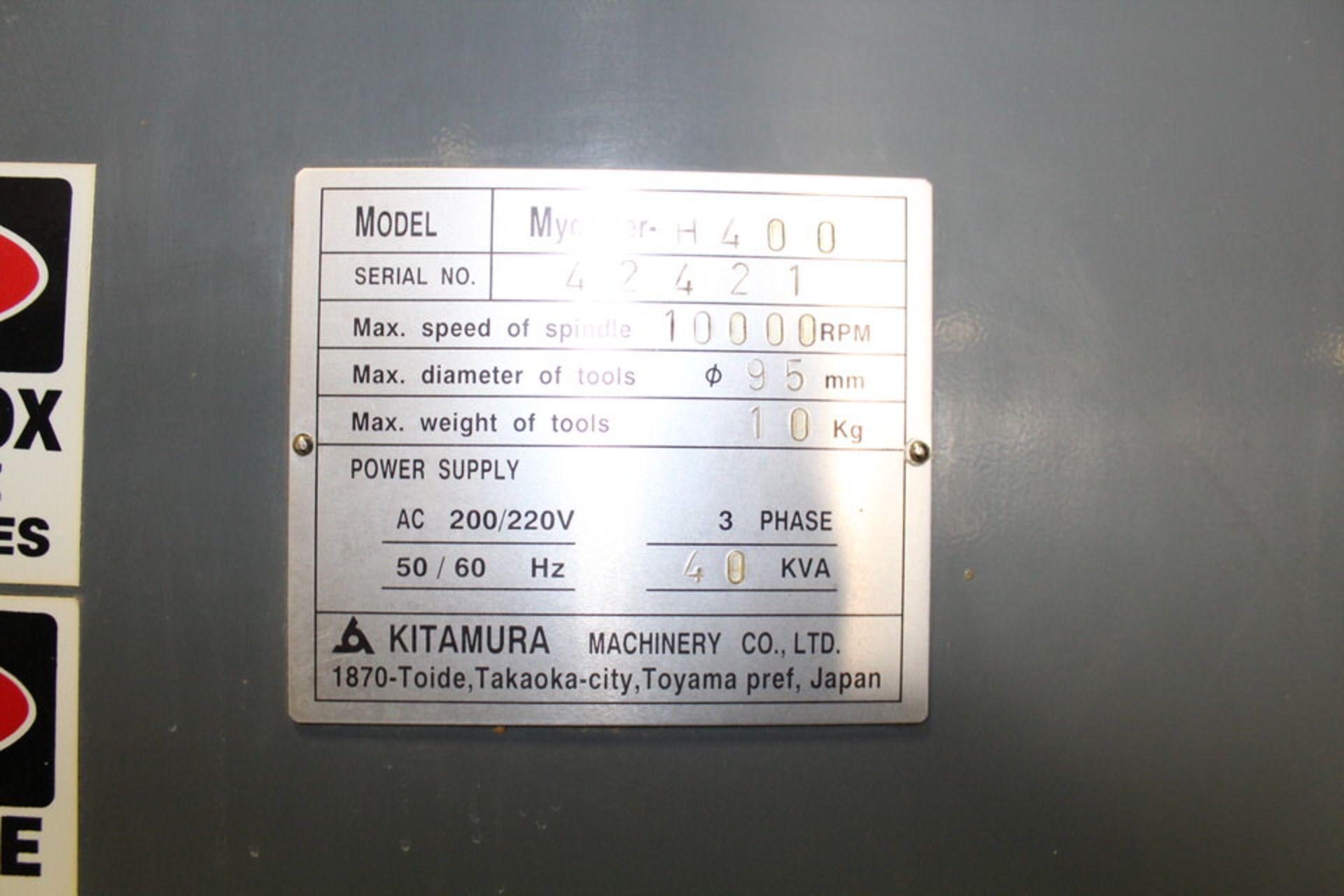 Lot 21 - KITAMURA MY CENTER H-400 W/ FANUC M 15 CONTROL