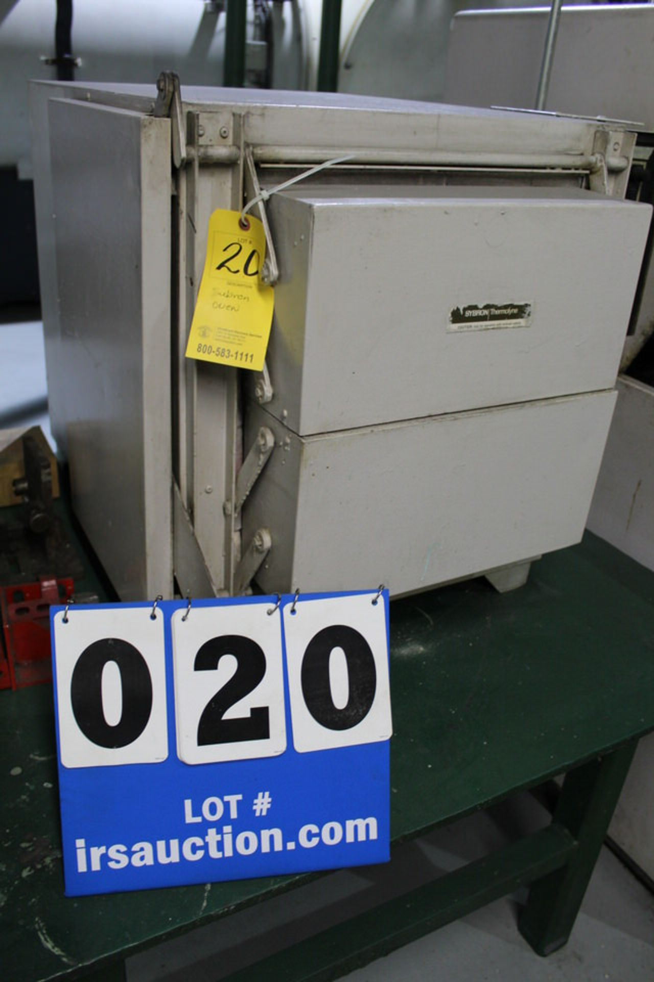 Lot 20 - SYBRON THERMOYINE OVEN W/ FURNATROL CONTROLLER