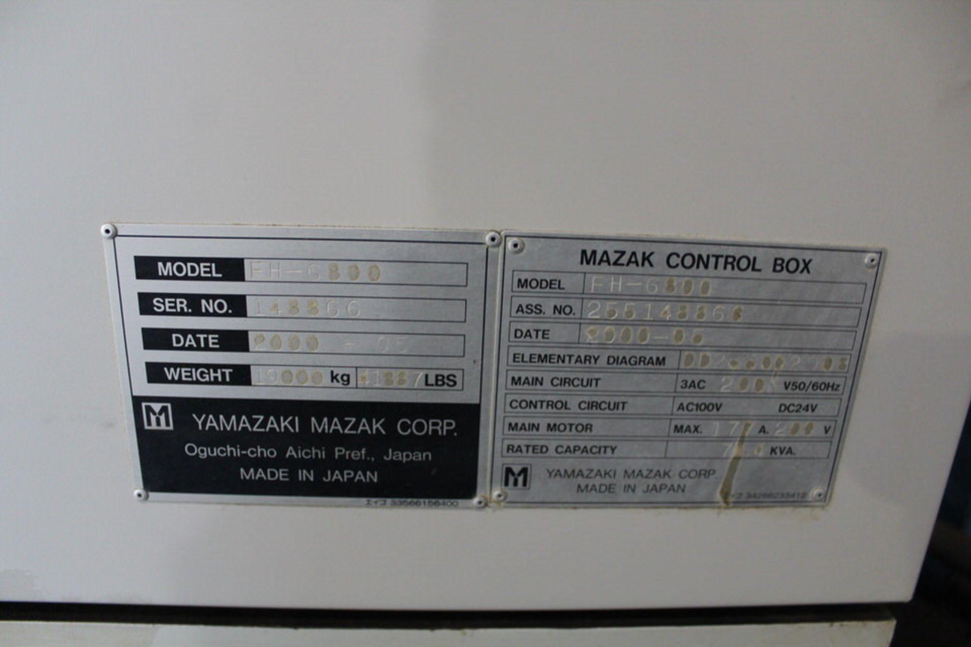 Lot 10 - 2000 MAZAK FH 6800 HMC