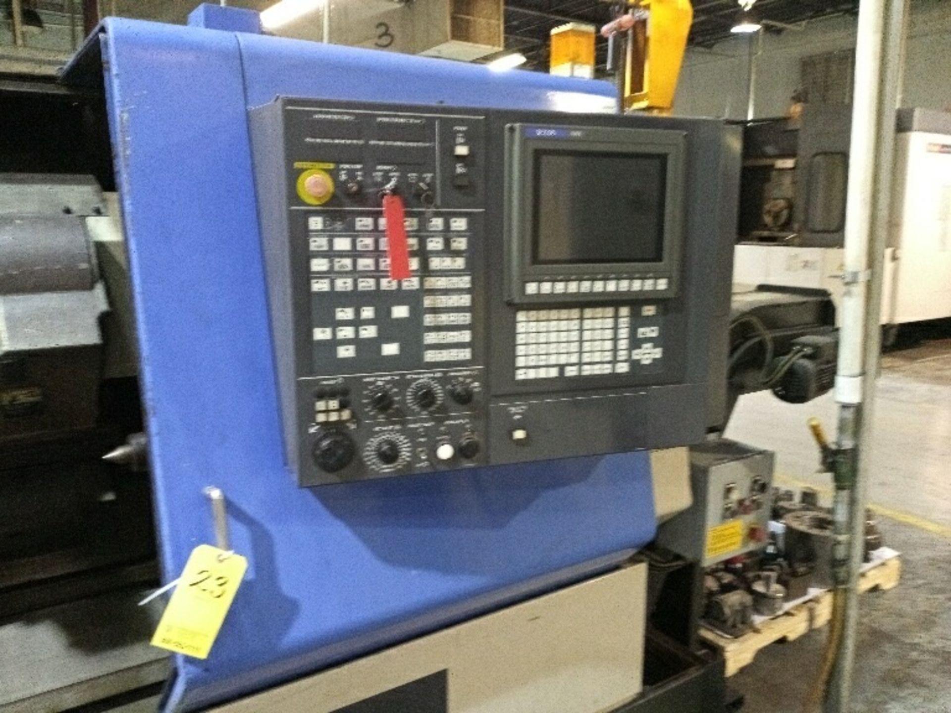 Lot 23 - HITACHI SEIKI HITEC-TURN, 25G, HIGH GRADE CNC TURNING CENTER W/ SEICOS A10L CONTROL W/ TOOLING