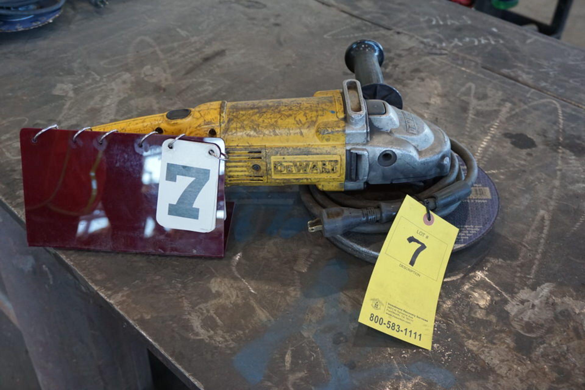 """Lot 7 - DEWALT 9"""" ELECTRIC HAND GRINDR"""