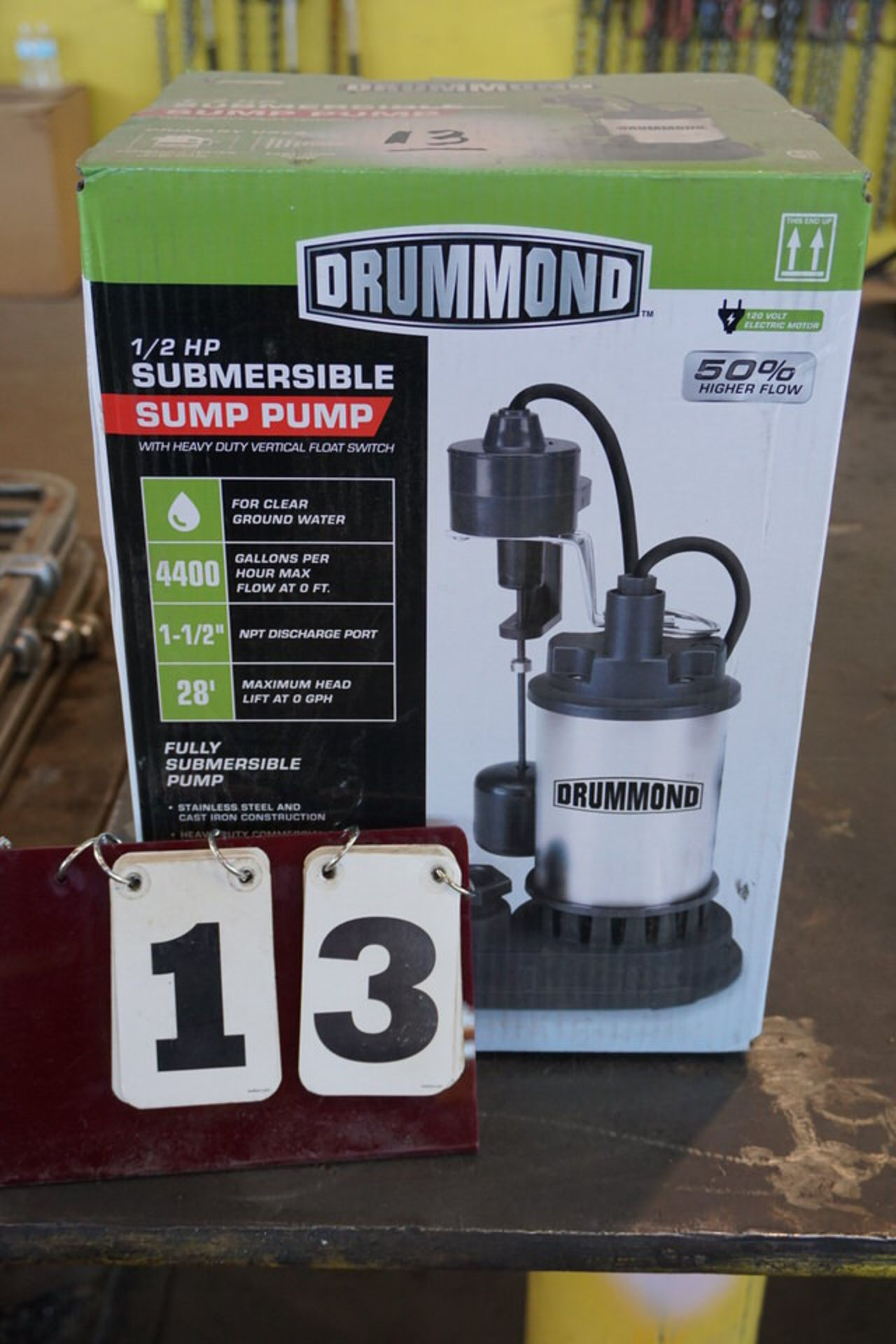 Lot 13 - DRUMMOND 1/2 HP SUBMERSIBLE PUMP