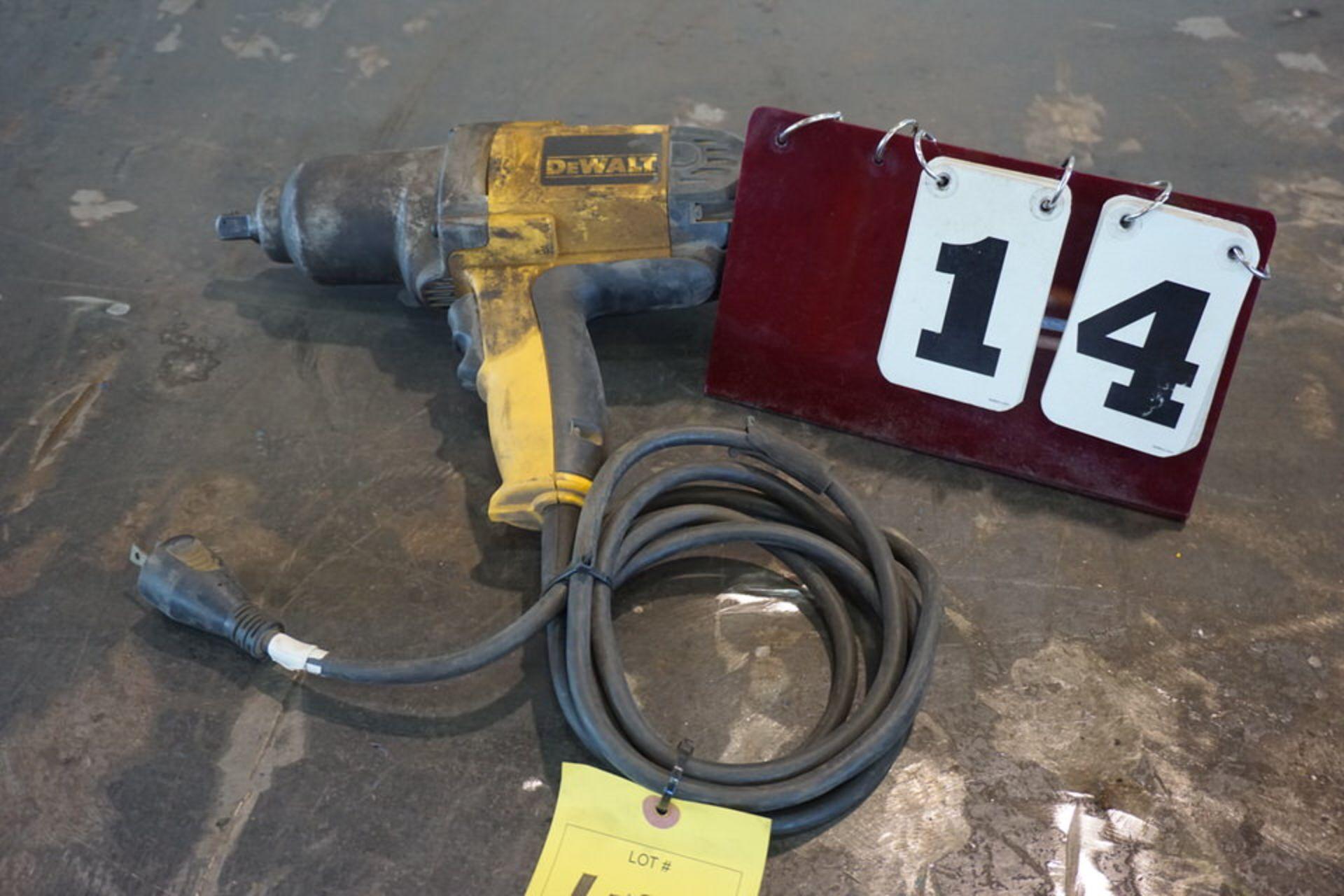 "Lot 14 - DEWALT ELECTRIC 1/2"" IMPACT"