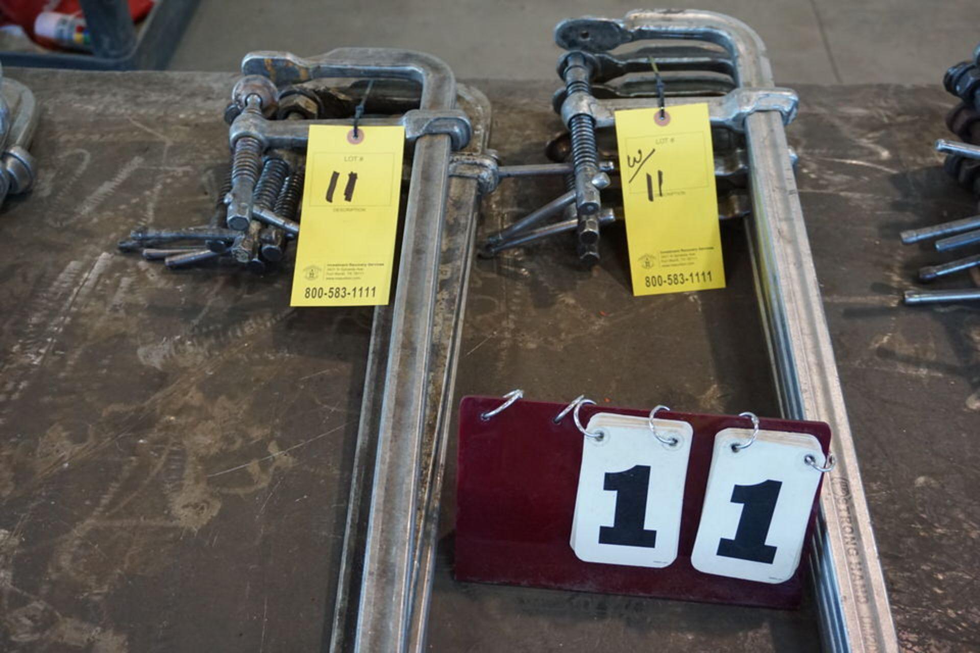 Lot 11 - (8) WELDERS BAR CLAMPS