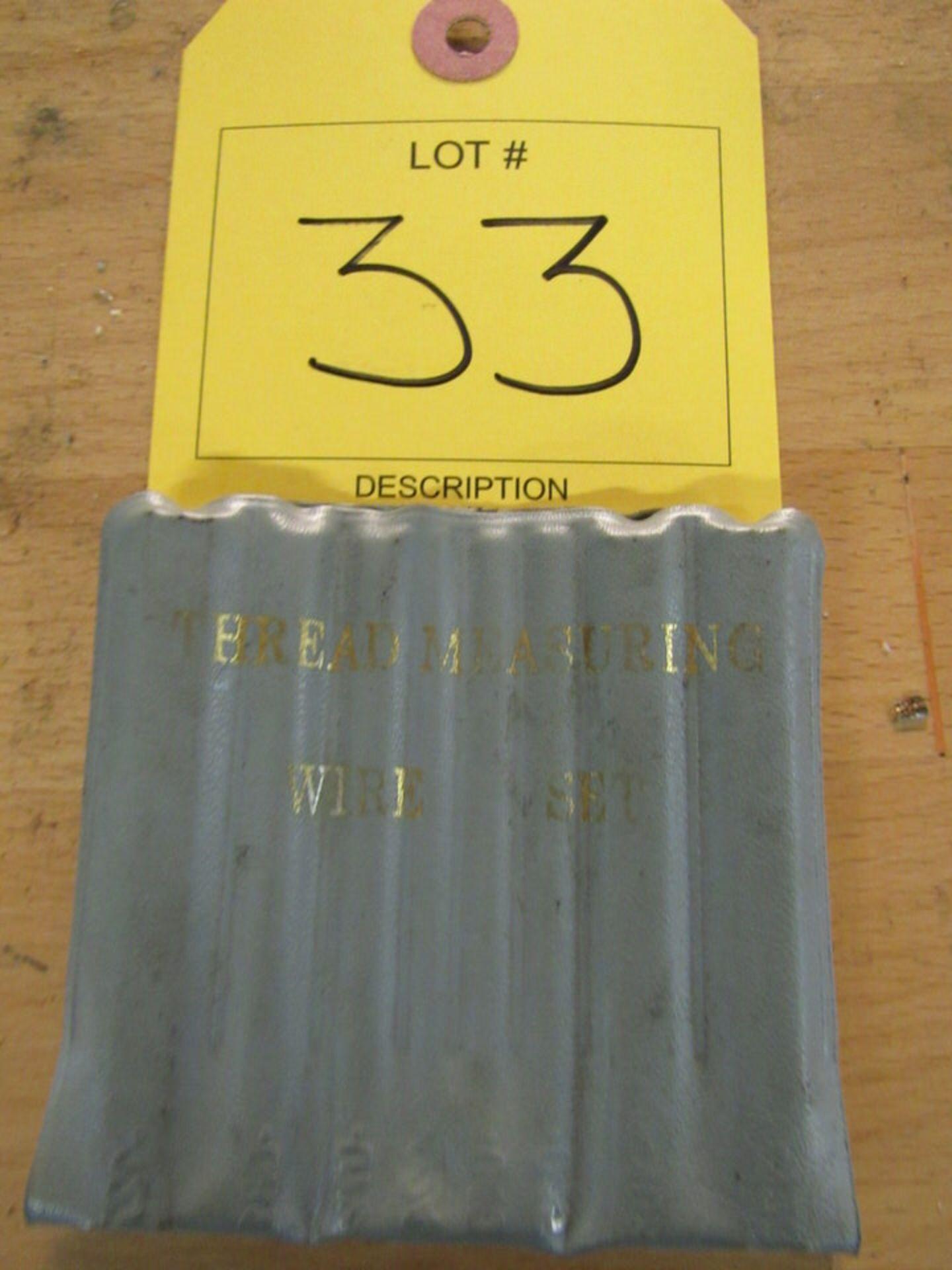 Lot 33 - (1) Thread Measuring Wire Set