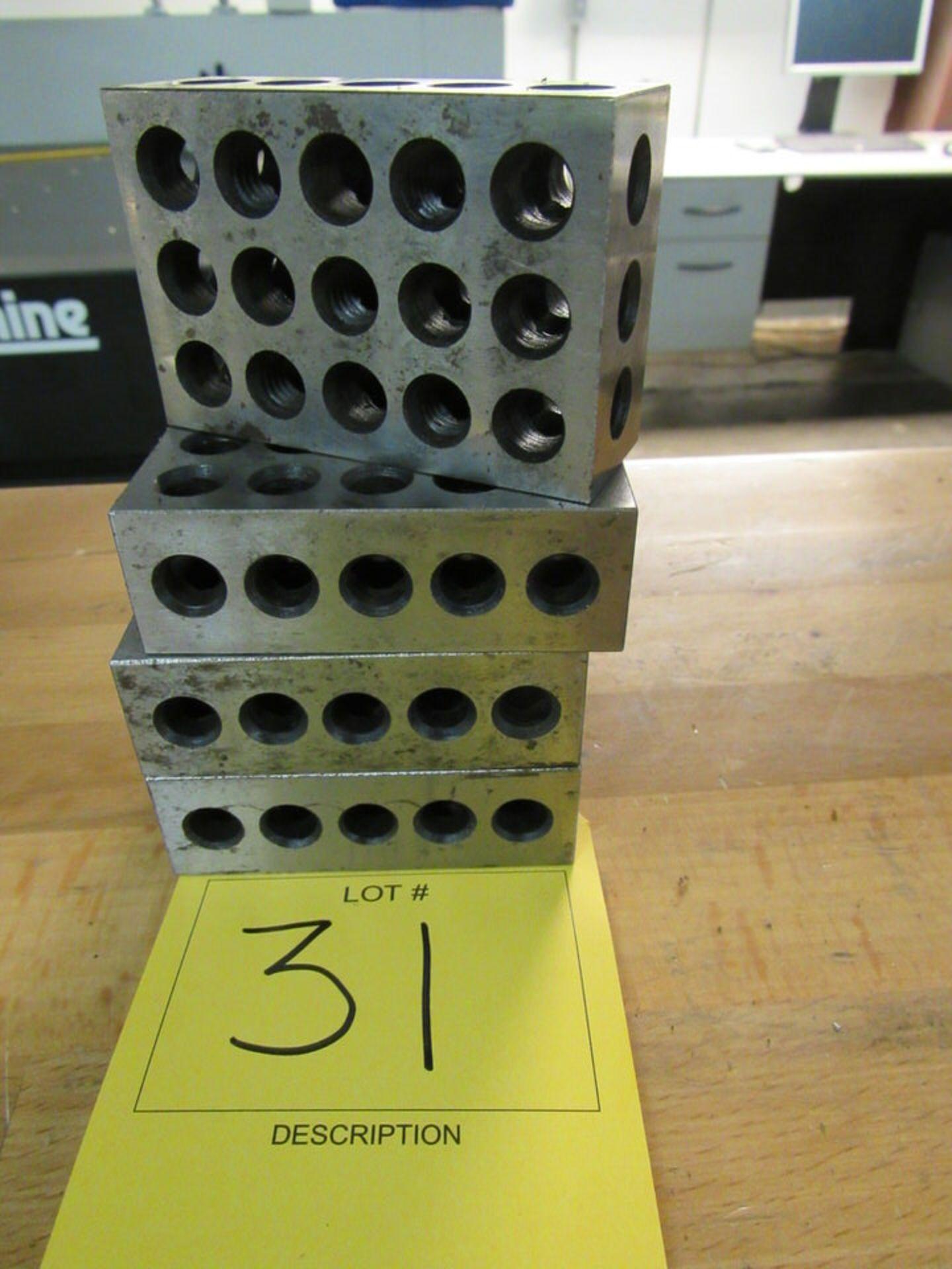 """Lot 31 - Set of (4) 2"""" x 3"""" x 1"""" Precsion Steel Blocks"""