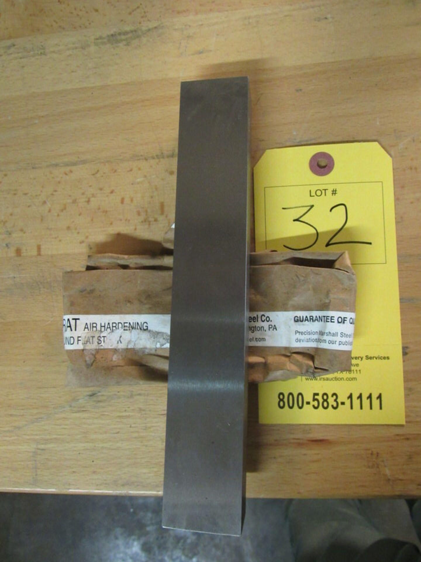 "Lot 32 - (1) 1"" x 1-1/2"" x 9"" long Precision Ground Flat Stock (Precision Marshall Steel Co.), Aristocrat Air"