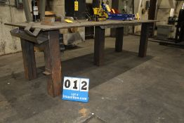 """HD METAL TABLE 4' X 10' W/ 1"""" THICK SURFACE, 3' HT"""